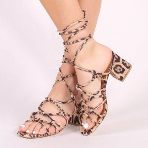 Public Desire Freya Knotted Strappy Block Heeled